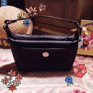 Authentic Coach Black Satin Mini Handbag